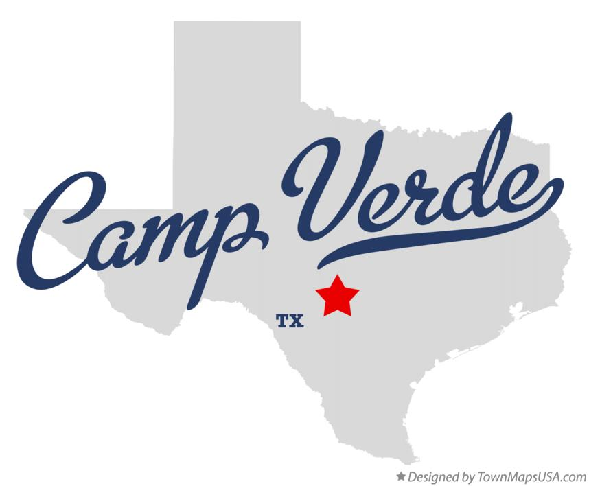 Map of Camp Verde Texas TX