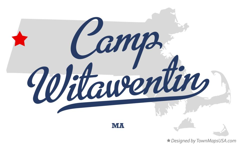 Map of Camp Witawentin Massachusetts MA