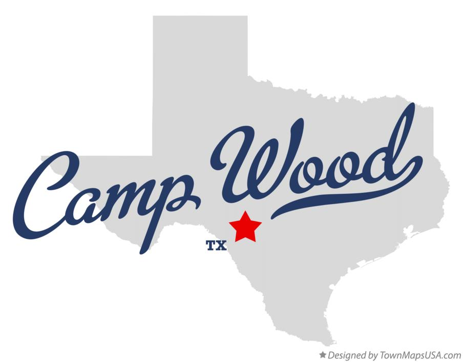 Map of Camp Wood Texas TX