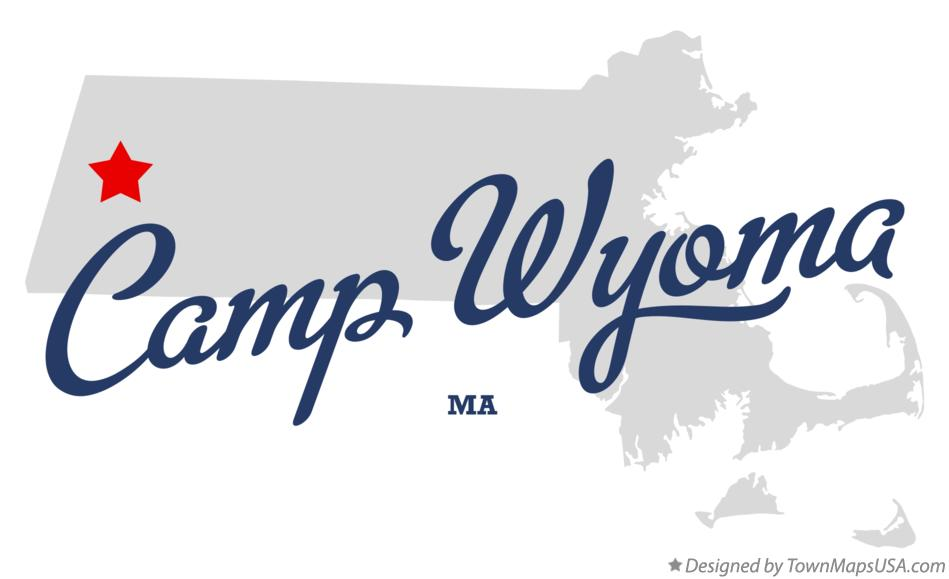 Map of Camp Wyoma Massachusetts MA
