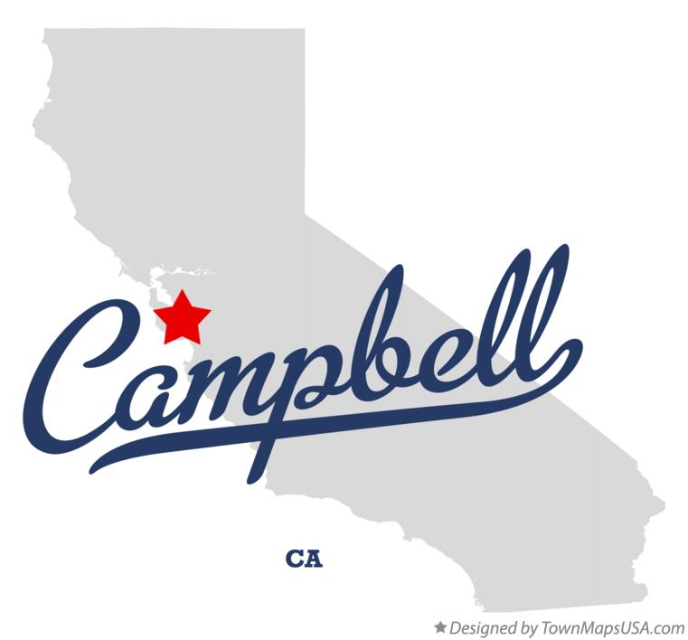 Map of Campbell California CA