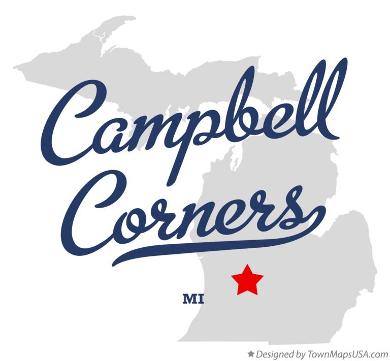 Map of Campbell Corners Michigan MI