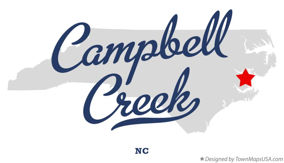Map of Campbell Creek North Carolina NC