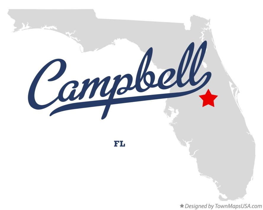 Map of Campbell Florida FL