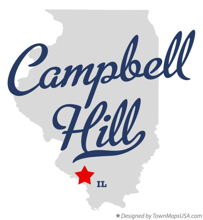 Map of Campbell Hill Illinois IL