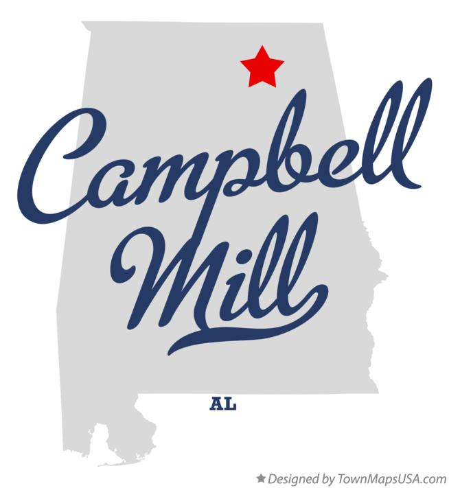Map of Campbell Mill Alabama AL
