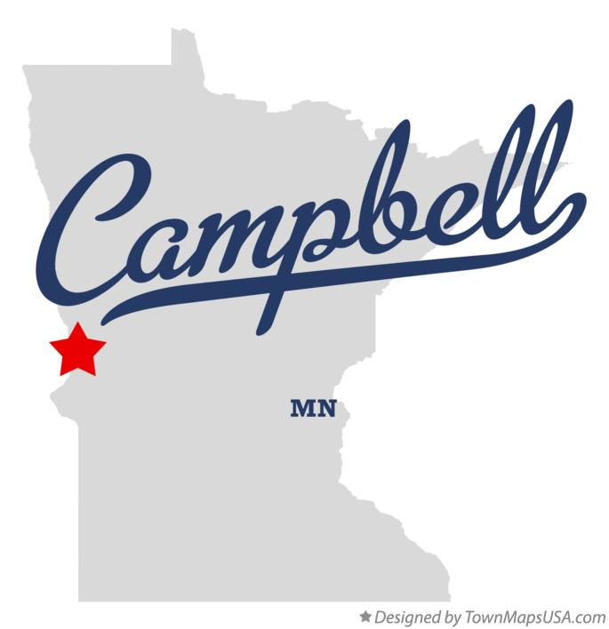 Map of Campbell Minnesota MN