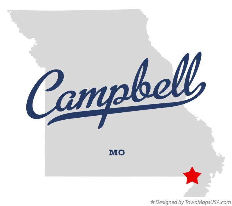 Map of Campbell Missouri MO