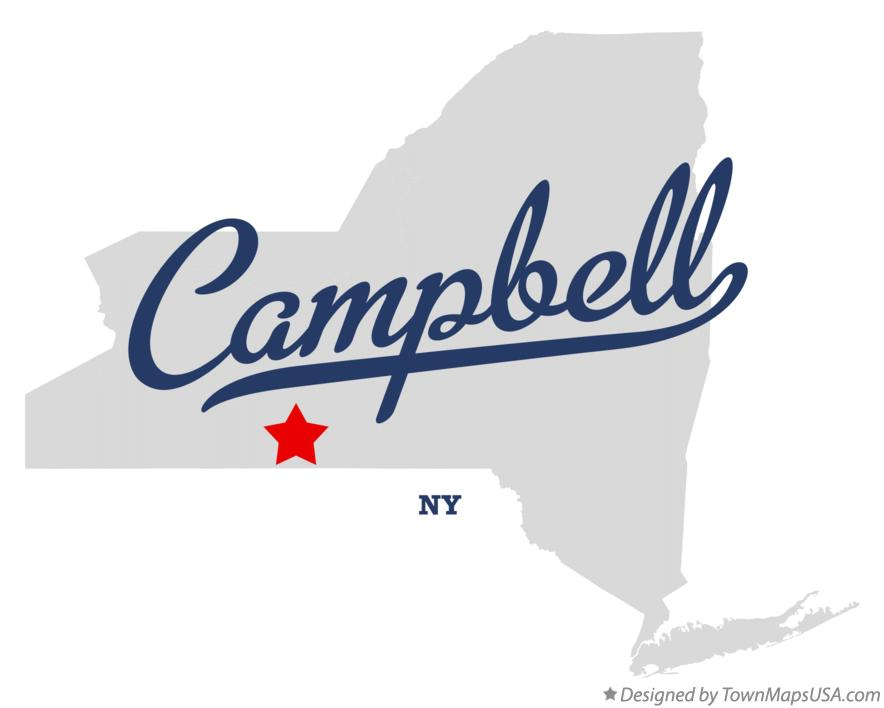 Map of Campbell New York NY