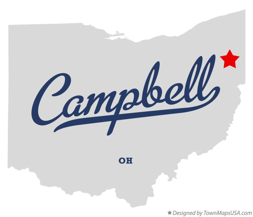 Map of Campbell Ohio OH