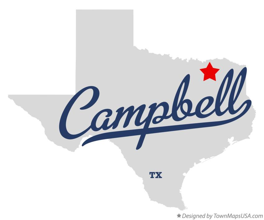 Map of Campbell Texas TX