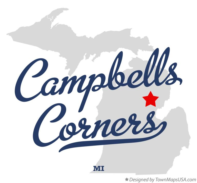 Map of Campbells Corners Michigan MI