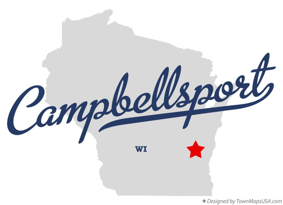 Map of Campbellsport Wisconsin WI