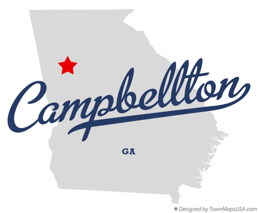 Map of Campbellton Georgia GA