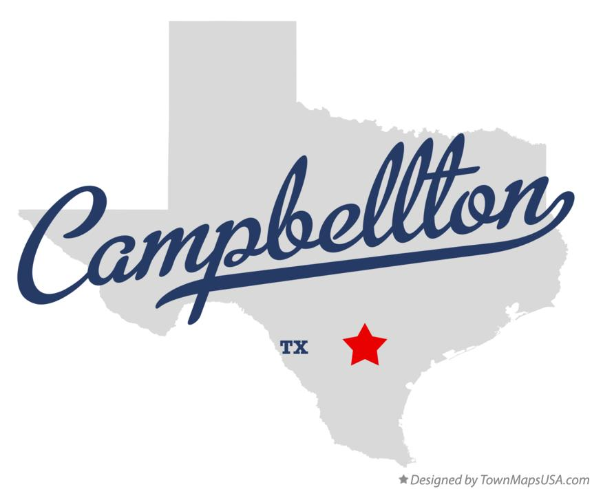 Map of Campbellton Texas TX
