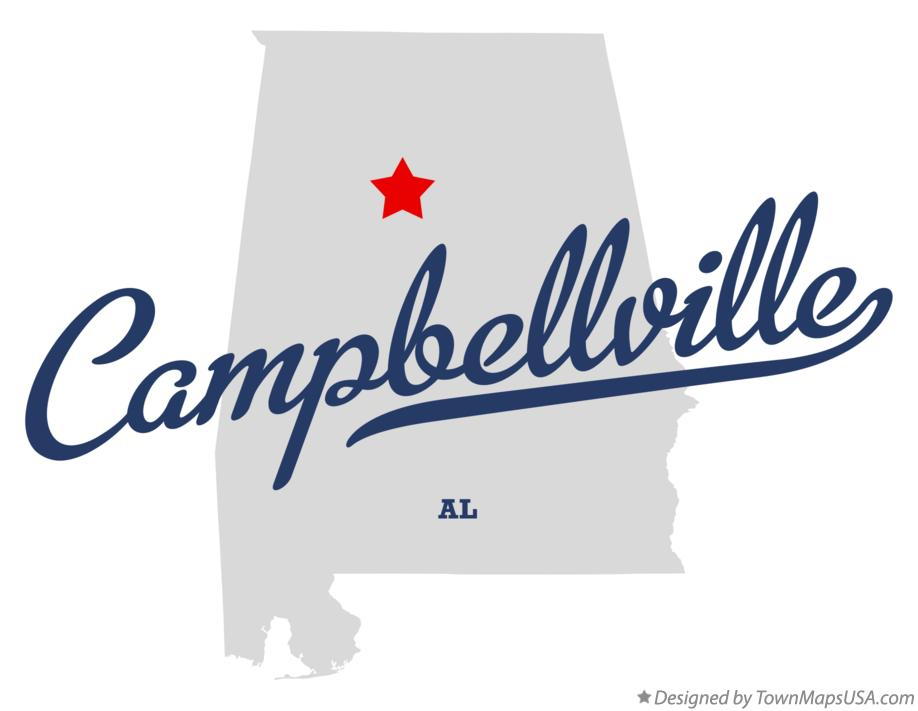 Map of Campbellville Alabama AL