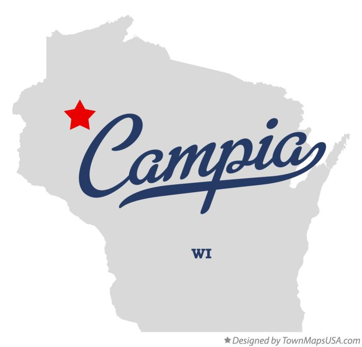 Map of Campia Wisconsin WI