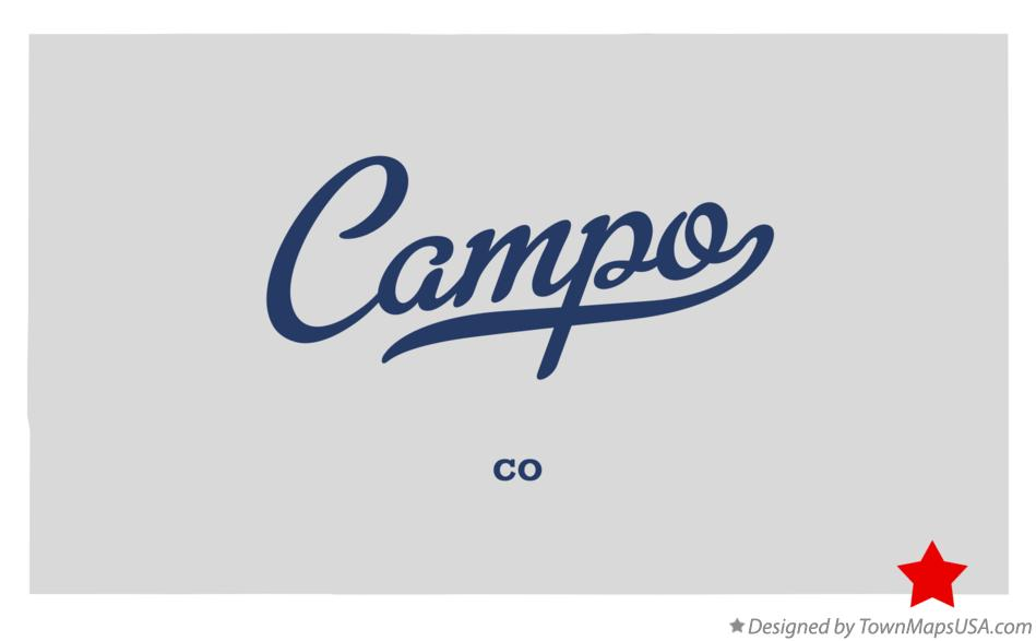 Map of Campo Colorado CO