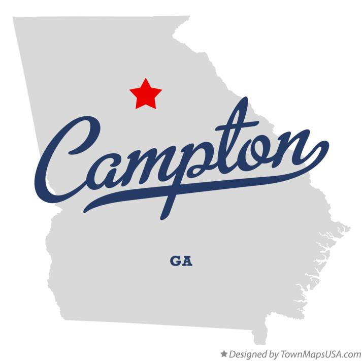 Map of Campton Georgia GA