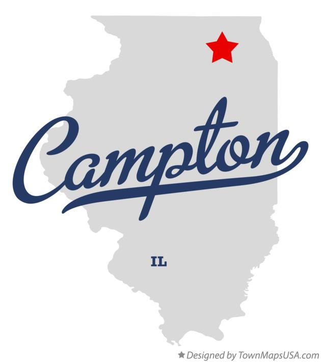 Map of Campton Illinois IL