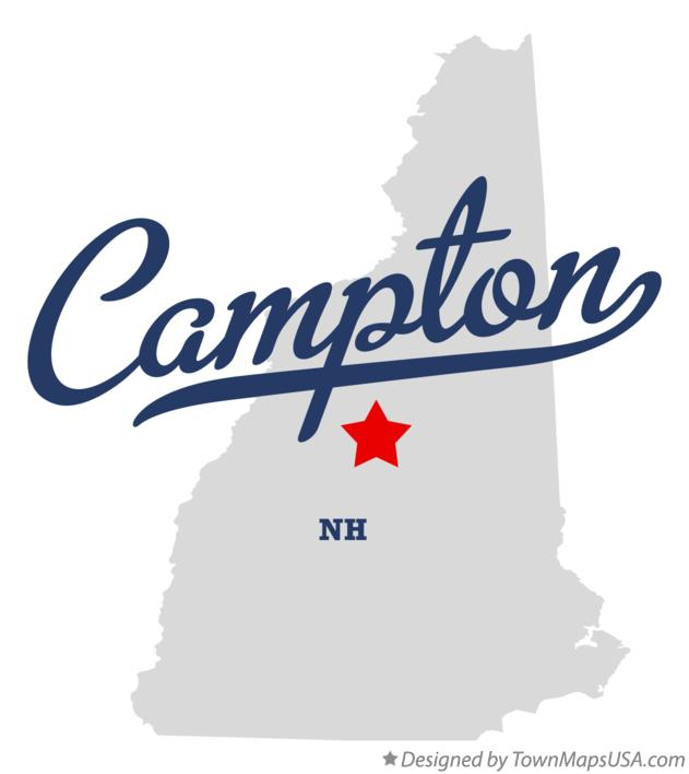 Map of Campton New Hampshire NH