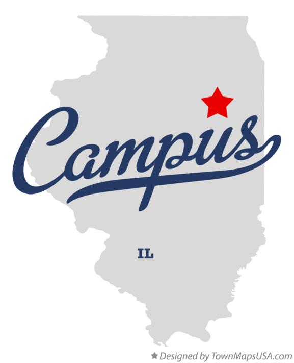 Map of Campus Illinois IL