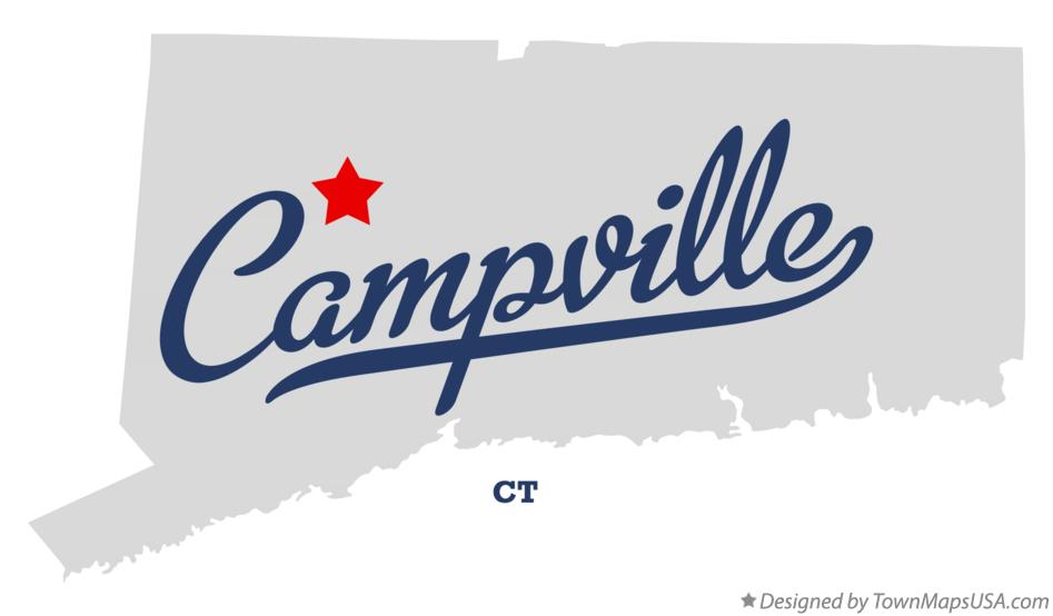 Map of Campville Connecticut CT