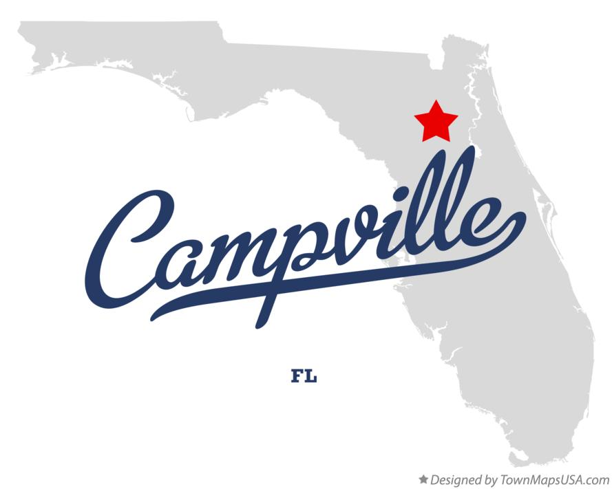 Map of Campville Florida FL