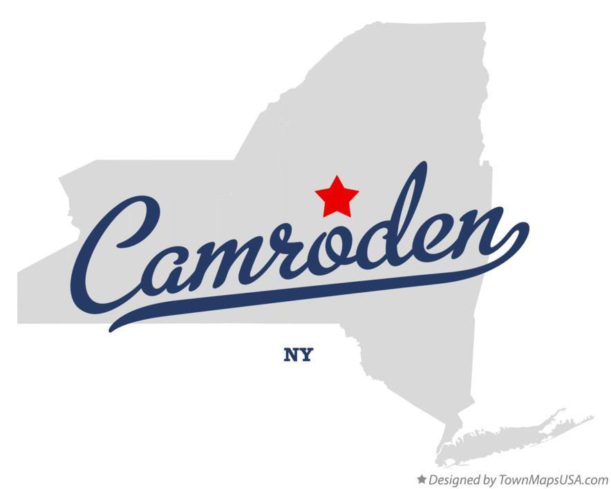 Map of Camroden New York NY