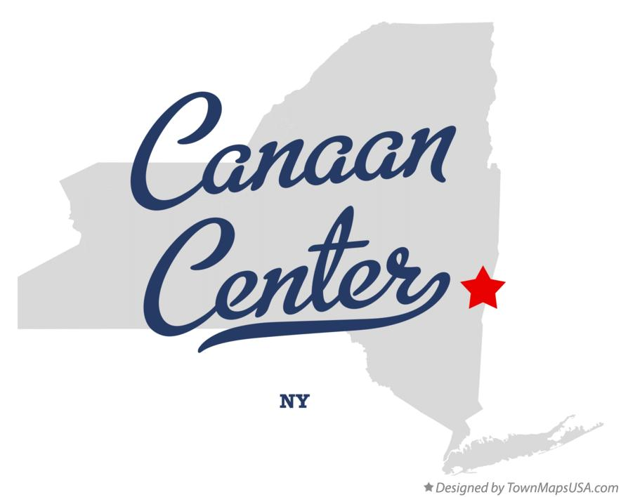 Map of Canaan Center New York NY