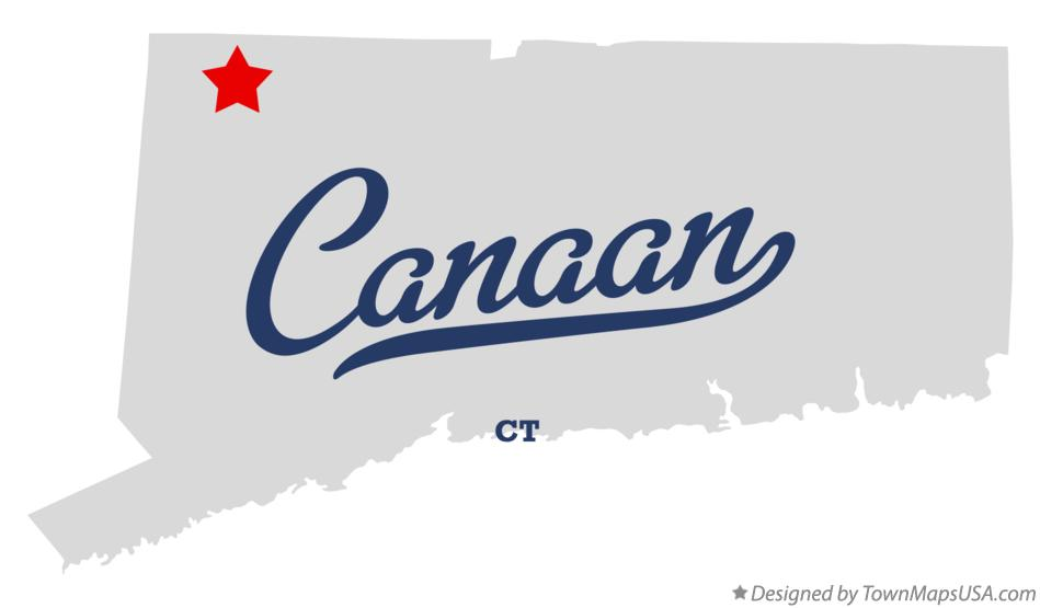 Map of Canaan Connecticut CT
