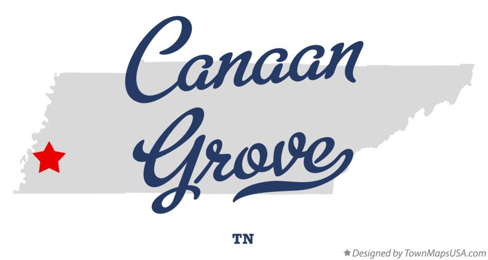 Map of Canaan Grove Tennessee TN