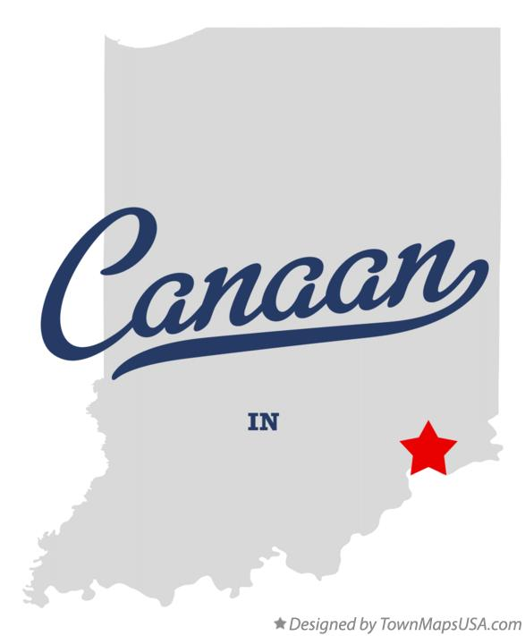 Map of Canaan Indiana IN