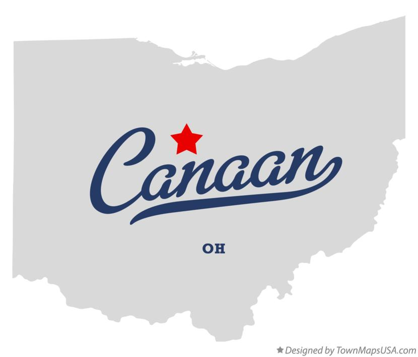 Map of Canaan Ohio OH