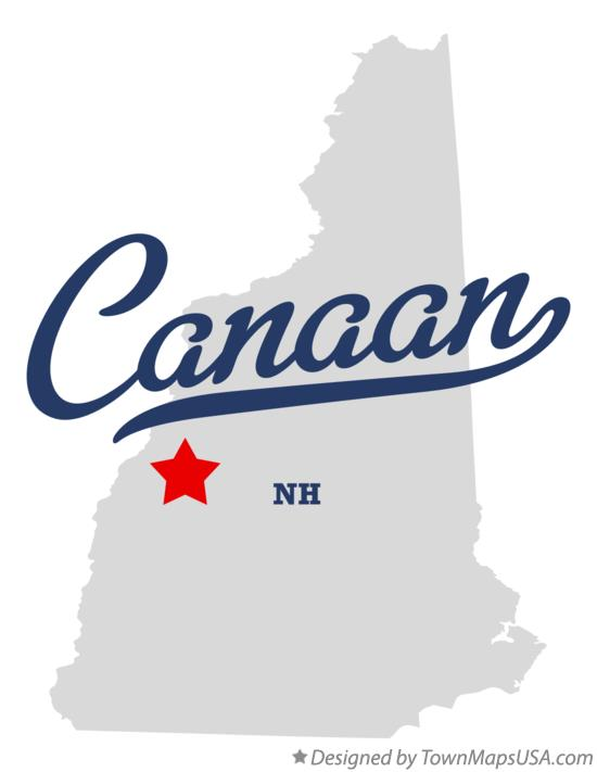 Map of Canaan New Hampshire NH