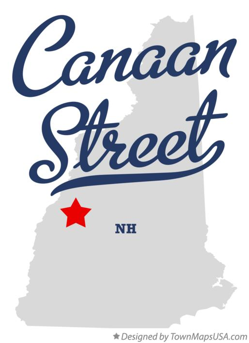 Map of Canaan Street New Hampshire NH