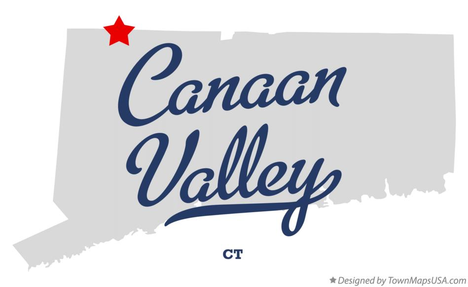 Map of Canaan Valley Connecticut CT