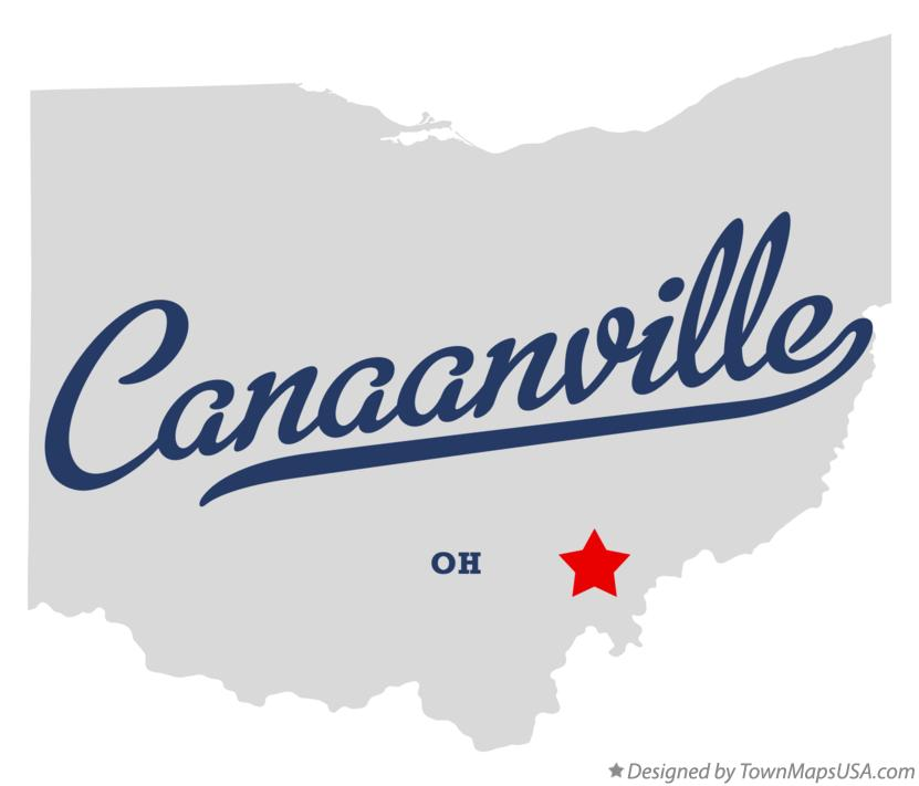Map of Canaanville Ohio OH