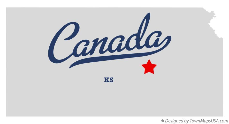 Map of Canada Kansas KS