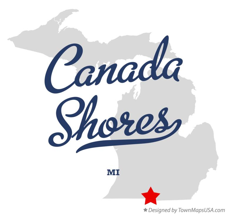 Map of Canada Shores Michigan MI