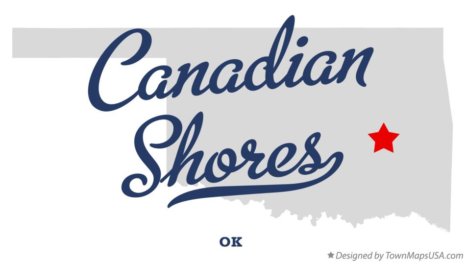 Map of Canadian Shores Oklahoma OK
