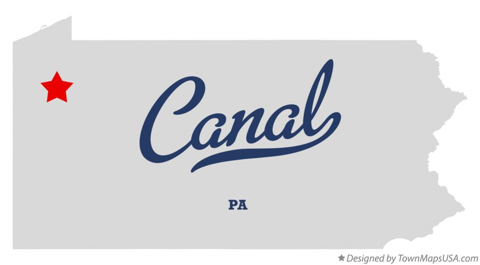 Map of Canal Pennsylvania PA