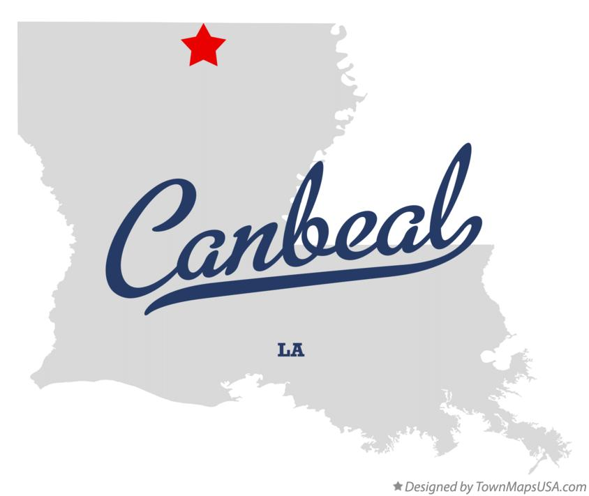 Map of Canbeal Louisiana LA