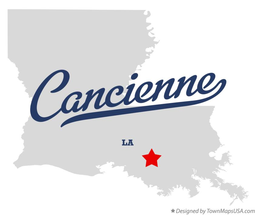 Map of Cancienne Louisiana LA