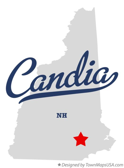 Map of Candia New Hampshire NH