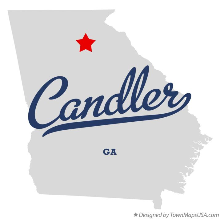 Map of Candler Georgia GA