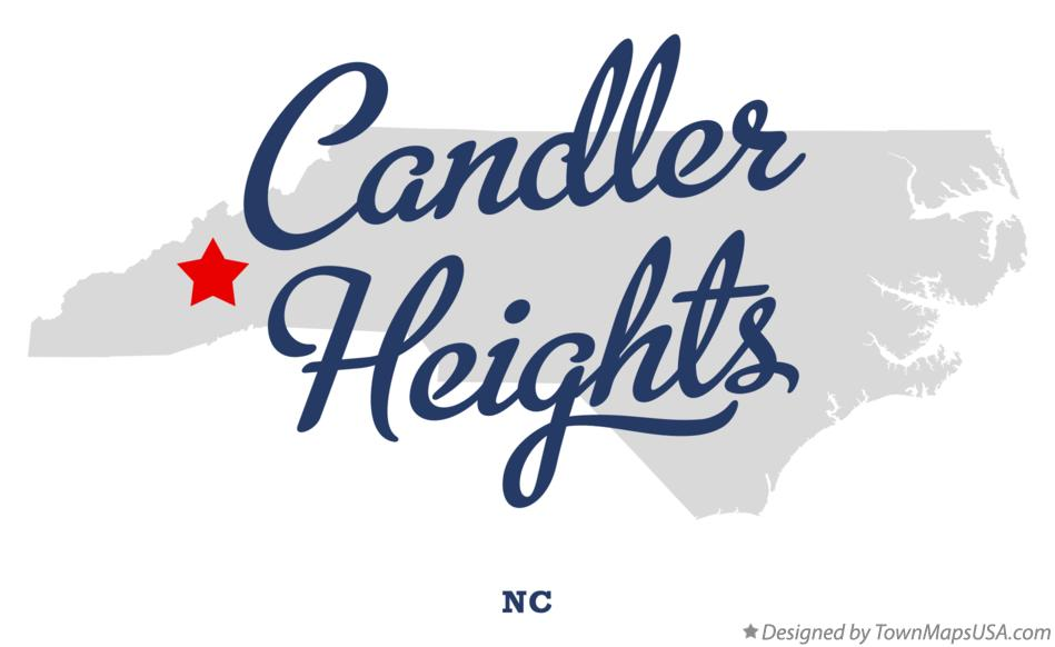 Map of Candler Heights North Carolina NC