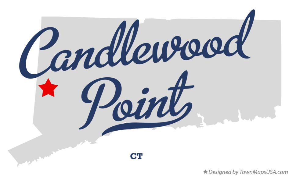 Map of Candlewood Point Connecticut CT