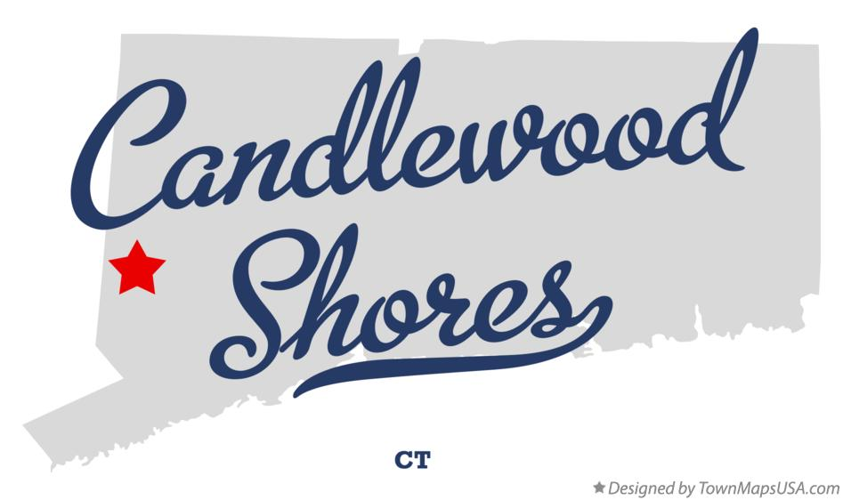 Map of Candlewood Shores Connecticut CT
