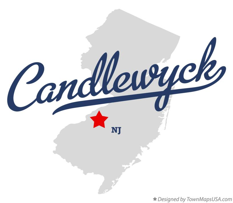 Map of Candlewyck New Jersey NJ